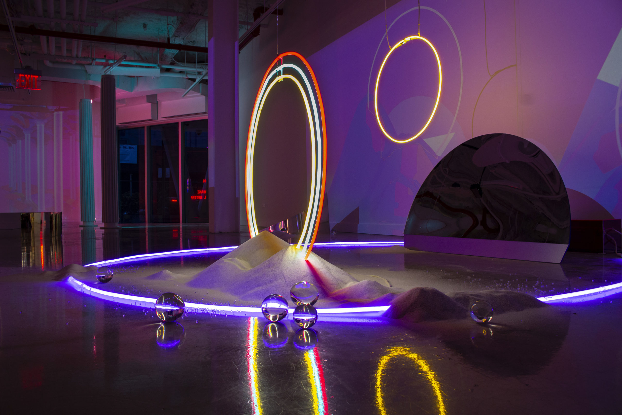 Lucia Riffel and Lily Reeves Outer Special installation at Urban Glass