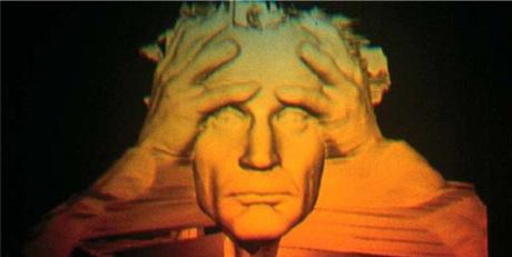 Jean-François Moreau, Folie, 1994 vidéo-hologramme, with Kirk Wollford, 20 x 25 cm