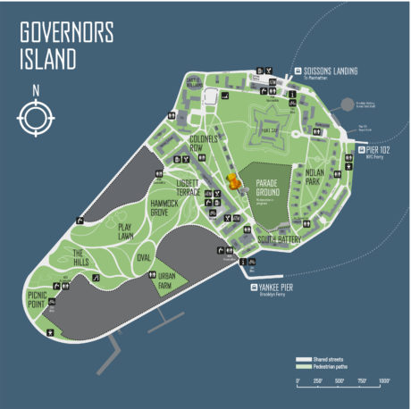 Map to HoloCenter on Governors Island