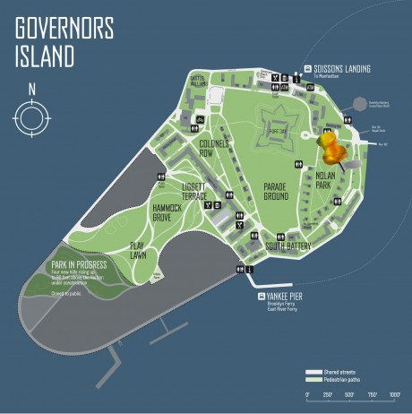 Governors Island Map to Holocenter House