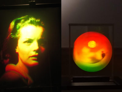 Holographic Embodiment two holograms of Romy Schneider and by Dan Schweitzer