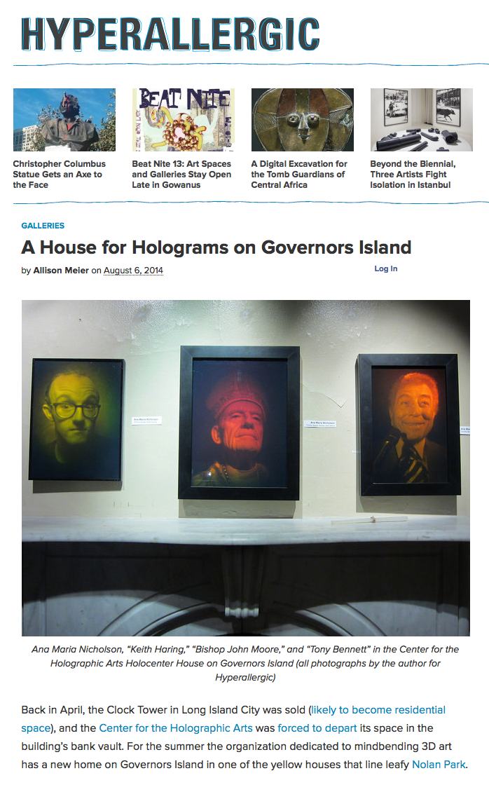 Hyperallergic House for Holograms