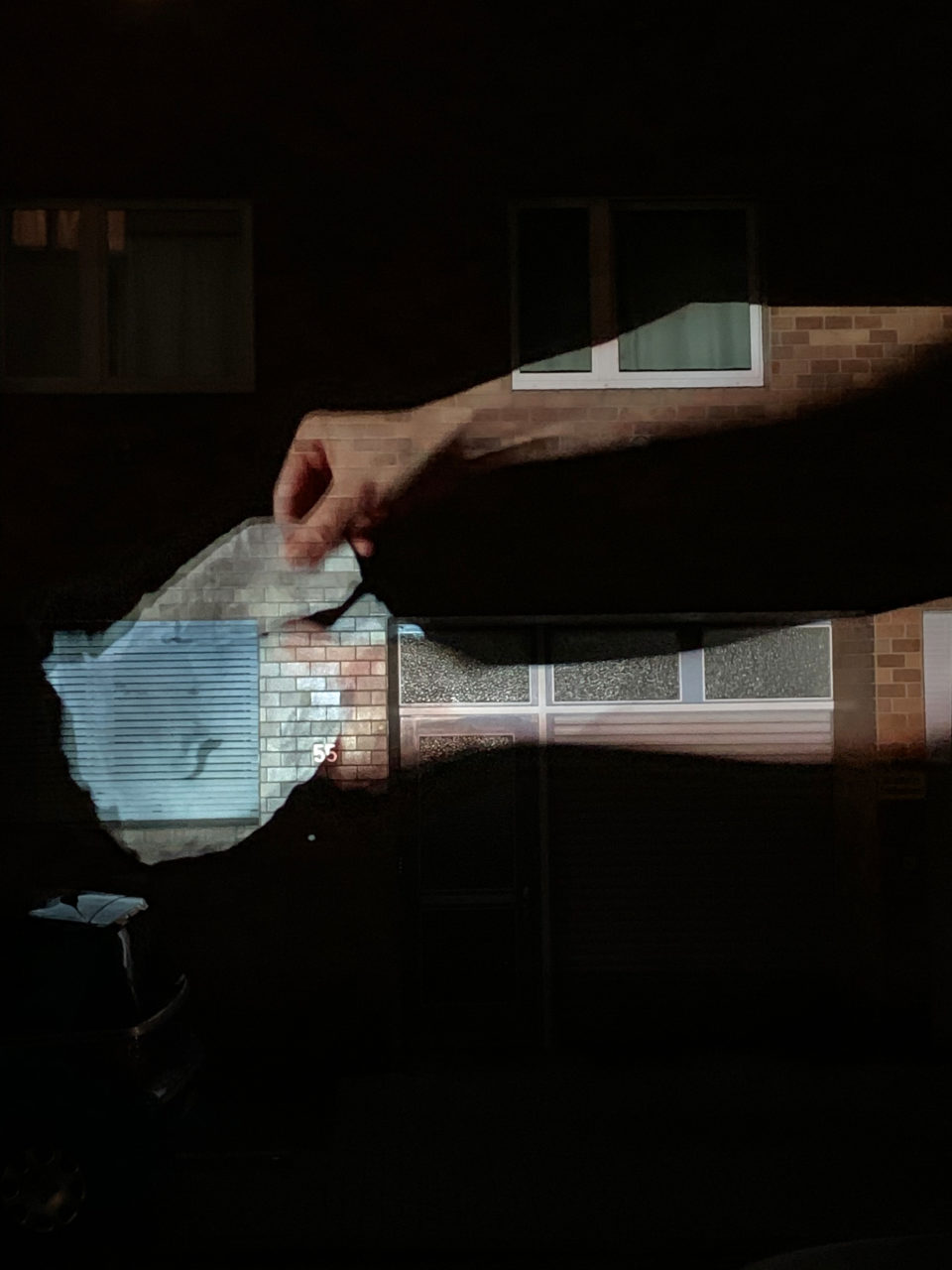 Johanna Reich #artfromthewindow projection