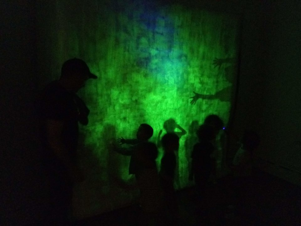 glow space at artist photonics at the Holocenter on Governors island