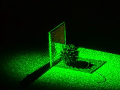 Recording hologram with laser