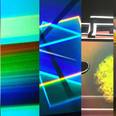 IRIDESCENCE art holograms collage