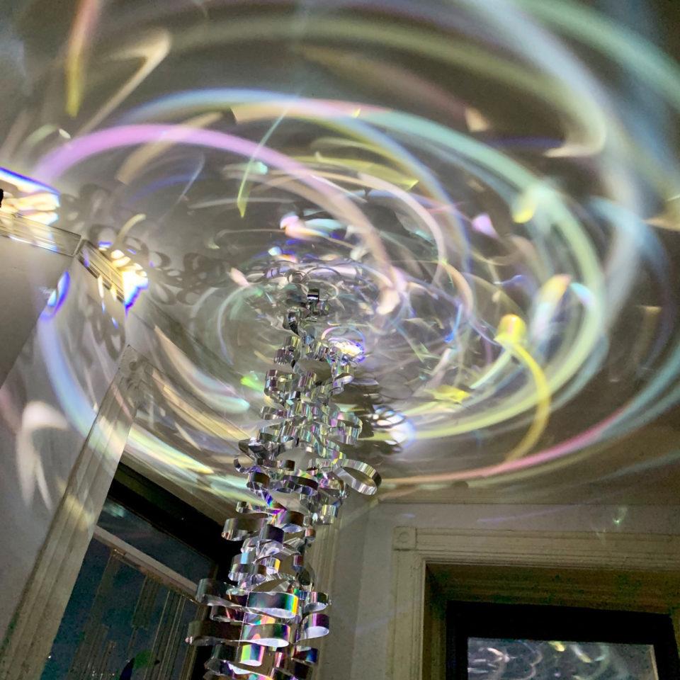 Kazue Tauguchi Rainboq LLum LIGHT WINDOWS installation