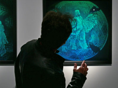'Birth' digital hologram by Lana Blum, commissioned by the Hologram Foundation for IRIDESCENCE