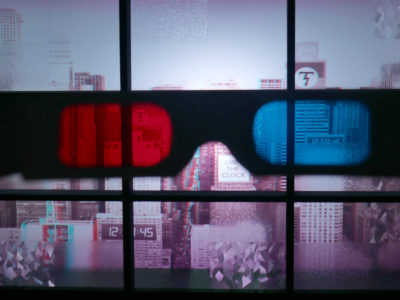 Max Clarke Parallax City in Space Light at the Plaxall Gallery