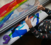 Making Rainbow Light Windows COVID-19