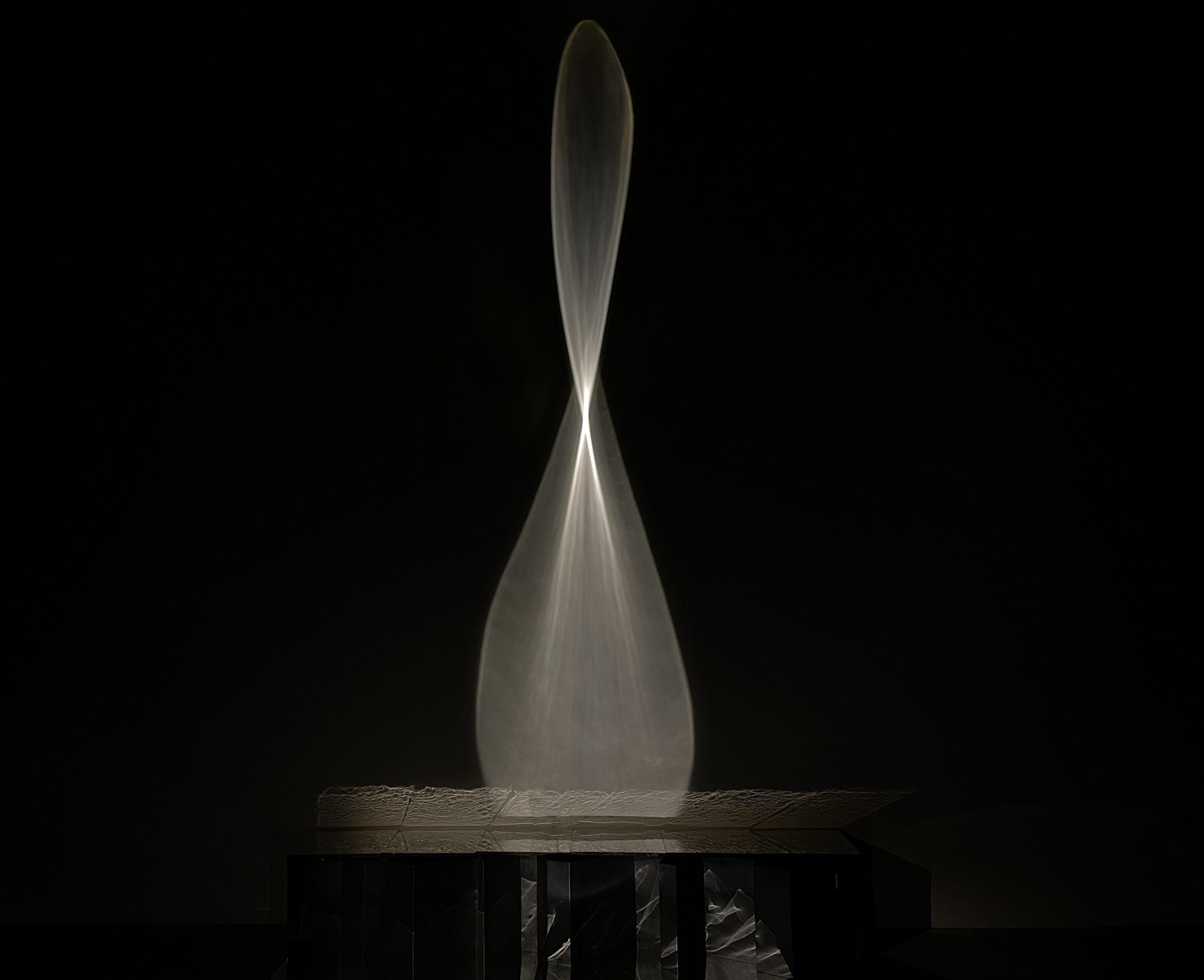 Nooshin Rostami, Zamân, 2020 Installation with sculptural elements and light