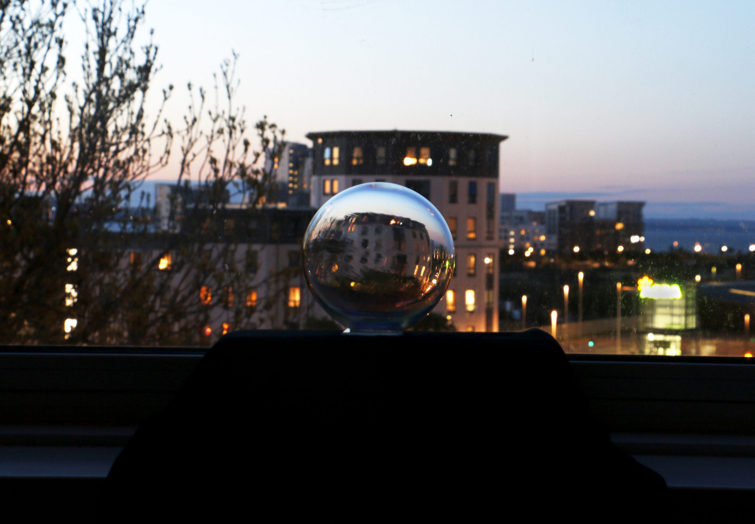 Tine Barkmann Northern Lights LIGHT WINDOWS installation