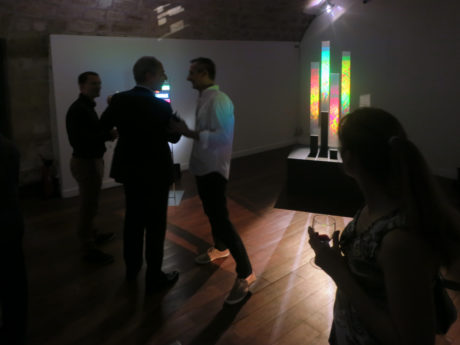 Pascal Gauchet and Setsuko Ishii hologram installations