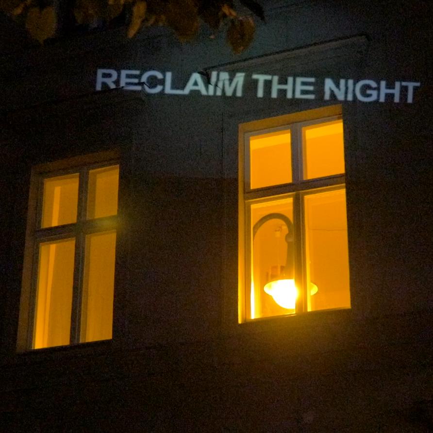 Rosa Wernecke Reclaim the Night Light Windows Berlin