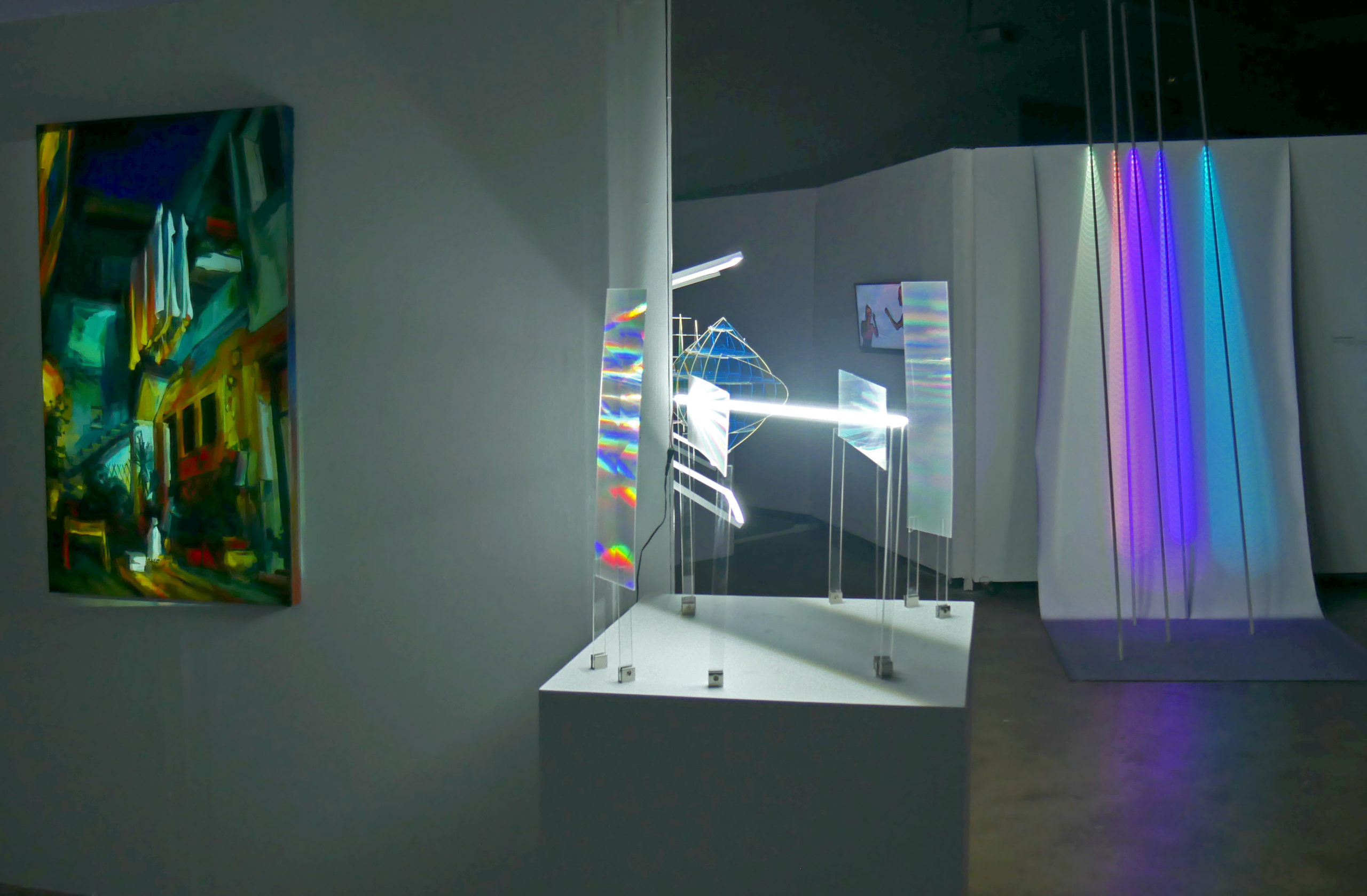 Installation View Space light at the Plaxall Gallery