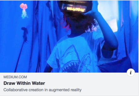 Draw Within Water on Medium Collaborative Augmented Reality