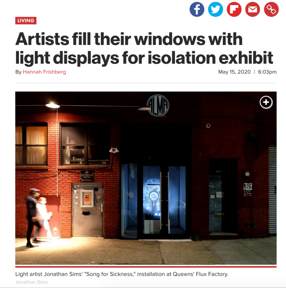NYpost isolation exhibition
