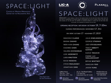 SPACE:LIGHT at The Plaxall Gallery