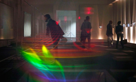 Holograms by Jean-François Moreau, from the Hologram Foundation Collection, Toulon Art Museum, 2015 photo by Pascal Gauchet